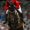 Olympics+Day+9+Equestrian+Mac Cone of Canada and Ole jump a fence during the Jumping Individual 2nd Qualifier held at the Hong Kong Olympic Equestrian Venue in Sha Tin