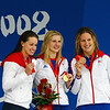 Olympics+Day+3+Swimming+Silver medalist Katie Hoff of the United States, gold medalist Rebecca Adlington of Great Britain and bronze medalist Joanne Jackson of Great Britain