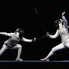 Olympics+Day+8+Fencing+Emily Cross (R) of the United States competes against Aida Mohamed of Hungary in the Women's Team Foil Semi Final at the Fencing Hall on Day 8 of the Beijing 2008 Olympic Games