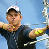Olympics+Day+3+Archery+Brady Ellison of the United States takes aim in the men's archery team round at the Olympic Green Archery Field on Day 3 of the Beijing 2008 Olympic Games