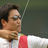 Olympics+Day+3+Archery+Park Kyung-Mo of South Korea takes aim in the men's archery team round at the Olympic Green Archery Field on Day 3