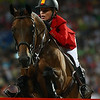 Olympics+Day+9+Equestrian+Meredith Michaels-Beerbaum of Germany and Shutterfly jump a fence during the Jumping Individual 2nd Qualifier held at Hong Kong Olympic Equestrian Venue in Sha Tin