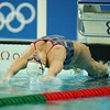 Olympics+Previews+Day+2+Margaret Hoelzer of the United States of America does a backstroke start during a practice session ahead of the Beijing 2008 Olympics at National Aquatics Center