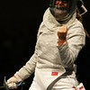 Olympics+Day+1+Fencing+Sandra Sassine of Canada celebrates during her Sabre Round of 16 match in the fencing event held at the Fencing Hall of National Convention Center