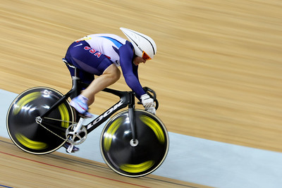 Olympics+Day+9+Cycling+Track+Jennie Reed of The United States competes in the Women's Sprint Qualifying at the track cycling event held at the Laoshan Velodrome