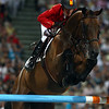 Olympics+Day+9+Equestrian+Meredith Michaels-Beerbaum of Germany and Shutterfly jump a fence during the Jumping Individual 2nd Qualifier held at the Hong Kong Olympic Equestrian Venue in Sha Tin