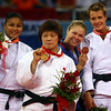 Olympics+Day+5+Judo+ilver medalist Anaysi Hernandez of Cuba, gold medalist Masae Ueno of Japan and bronze medalists Ronda Rousey of the USA and Edith Bosch of the Netherlands