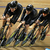 Olympics+Day+9+Cycling+Track+Sam Bewley, Westley Gough, Marc Ryan, and Jesse Sergent of New Zealand compete during qualifying for the men's team pursuit track cycling event held at the Laoshan Velodrome