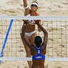 Olympics+Day+4+Beach+Volleyball+Misty May-Treanor of the USA shoots as Tamara Larrea of Cuba attempts to block in the Women's Preliminary Pool B match held at the Chaoyang Park Beach Volleyball Ground