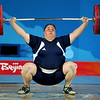 Olympics+Day+8+Weightlifting+Cheryl Haworth of the United States completes a successful lift of 115 kg n the women's +75kg group A weightlifting event at Beijing University