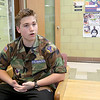 Memorial Middle School seventh grader Keith Worden, 13, talks about why he is part of the Civil Air Patrol club at the school on May 2, 2017. SENTINEL & ENTERPRISE/JOHN LOVE
