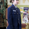 Memorial Middle School seventh grader Jailene Poladian, 12, listens to instructions as she and members of the Civil Air Patrol club at the school go through some marching drills. SENTINEL & ENTERPRISE/JOHN LOVE
