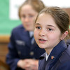 Memorial Middle School seventh grader Jailene Poladian, 12, talks about why she is part of the Civil Air Patrol club at the school. SENTINEL & ENTERPRISE/JOHN LOVE