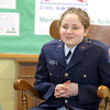 Memorial Middle School eighth grader Carine  Poladian, 13, talks about why she is part of the Civil Air Patrol club at the school. SENTINEL & ENTERPRISE/JOHN LOVE