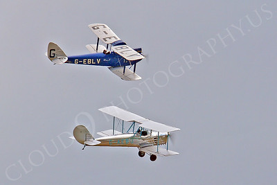 CIW - 1925 de Havilland DH60 Moth G-EBLV with Blackburn B2 00010 by Tony Fairey