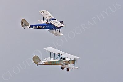CIW - 1925 de Havilland DH60 Moth G-EBLV with Blackburn B2 00010 by Tony Fairey