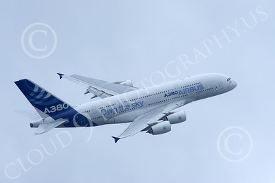 A380 00198 A flying Airbus A380 prototype super jumble jet airliner airliner picture by Stephen W D Wolf