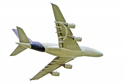 A380 00140 A flying Airbus A380 prototype F-WWDD airplane picture by Stephen W D Wolf
