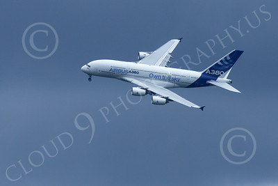 A380 00236 A landing Airbus A380 prototype super jumble jet airliner airliner picture by Stephen W D Wolf