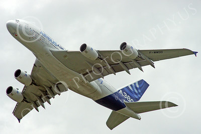 A380 00142 An climbing Airbus A380 prototype super jumble jet airliner airliner picture by Stephen W D Wolf