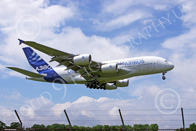 A380 00138 An Airbus A380 prototype super jumber jet airliner lands at the 2013 Paris Air Show airliner picture by Stephen W D Wolf