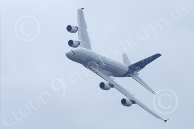 A380 00252 A flying Airbus A380 prototype super jumber jet airliner airliner picture by Stephen W D Wolf