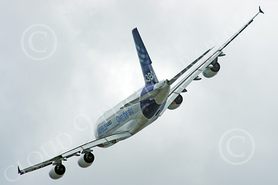 A380 00264 A flying Airbus A380 prototype super jumble jet airliner airliner picture by Stephen W D Wolf