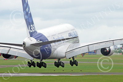 A380 00148 A landing Airbus A380 prototype super jumble jet airliner airliner picture by Stephen W D Wolf