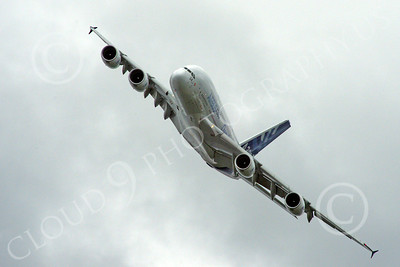 A380 00184 A flying Airbus A380 prototype super jumble jet airliner airliner picture by Stephen W D Wolf