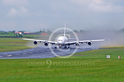A380 00109 An Airbus A380 prototype super jumble jet airliner begins its take-off roll at the 2013 Paris Air Show airliner picture by Stephen W D Wolf