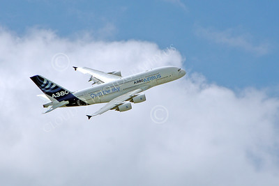 A380 00154 A flying Airbus A380 prototype super jumble jet airliner 2013 airliner picture by Stephen W D Wolf