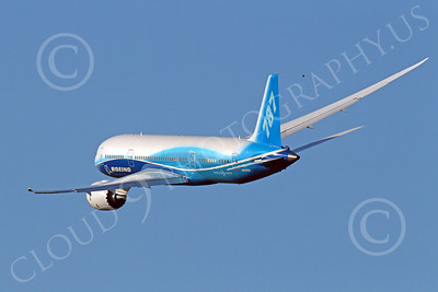 ALPJP-B787 00002 A flying Boeing 787 Dreamliner prototype, N787BA, by Peter J Mancus