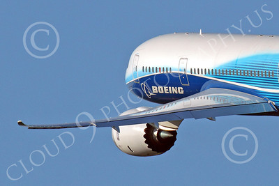 ALPJP-B787 00014 Close up of engine detail on a flying Boeing 787 Dreamliner prototype, N787BA, by Peter J Mancus