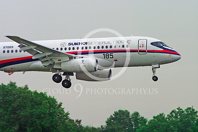 ALPJP-SSJ100 00010 Sukhoi Super Jet 100 97003 airplane picture by Stephen W D Wolf