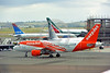 A320 00035 An Airbus A320 EASY JET G-EZDN jet airliner taxis for take-off at Rome 6-2016 jet airliner picture by Peter J  Mancus