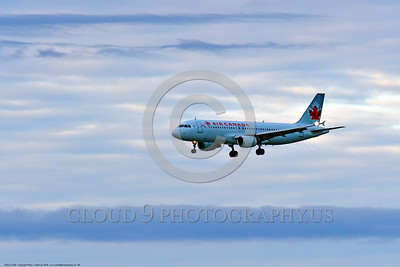 A320 00009 An Airbus A320 AIR CANADA jet airliner on final approach to land 6-2016 jet airliner picture by Peter J  Mancus