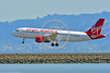 A320 00033 An Airbus A320 VIRGIN AMERICA N846VA jet airliner lands at SFO 6-2016 jet airliner picture by Peter J  Mancus