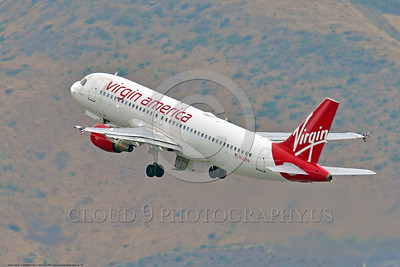 A320 00028 An Airbus A320 VIRGIN AMERICA N632VA jet airliner climbs out after take-off at SFO 6-2016 jet airliner picture by Peter J  Mancus