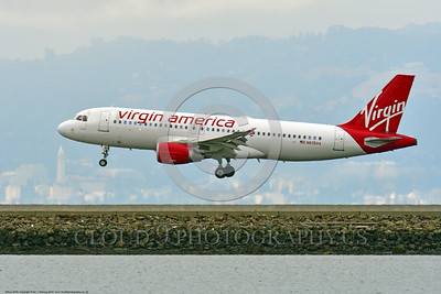 A320 00032 An Airbus A320 VIRGIN AMERICA N835VA jet airliner lands at SFO 6-2016 jet airliner picture by Peter J  Mancus