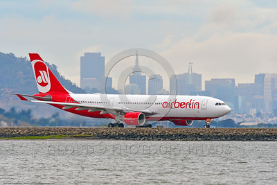 A330 00001 An Airbus A330 Air Berlin jet airliner taxis for take off at SFO 6-2016 jet airliner picture by Peter J  Mancus