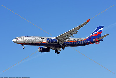 A330 00024 An Airbus A330 jet airliner, Aeroflot VQ-BBF, landing at LAX 11-2017, jet airliner picture by Carl E  Porter     DONEwt