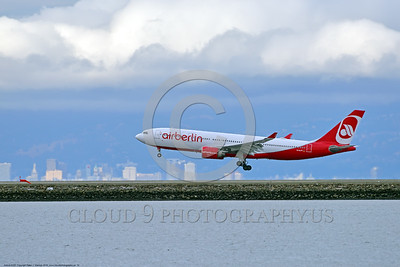 A330 00012 An Airbus A330 AIR BERLIN jet airliner lands at SFO 6-2016 jet airliner picture by Peter J  Mancus