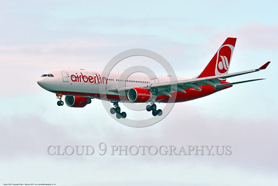 A330 00034 A landing Airbus A330 AIR BERLIN D-ALPF jet airliner 6-2016 jet airliner picture by Peter J  Mancus