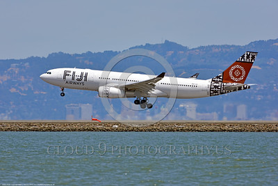 A330 00006 An Airbus A330 FIJI AIRWAYS DQ-FJV jet airliner lands at SFO 6-2016 jet airliner picture by Peter J  Mancus