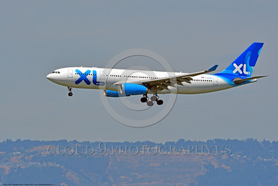 A330 00002 A landing Airbus A330 XL F-GRSQ jet airliner 6-2016 jet airliner picture by Peter J  Mancus
