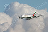 A380 00280 An Airbus A380 Emirates Airline A6-EEU on final approach to land at SFO 12-2014 12-2014 airliner picture by Peter J Mancus