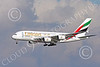 A380 00268 An Airbus A380 Emirates Airline A6-EEU on final approach to land at SFO 12-2014 12-2014 airliner picture by Peter J Mancus
