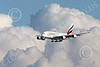 A380 00274 An Airbus A380 Emirates Airline A6-EEU on final approach to land at SFO 12-2014 12-2014 airliner picture by Peter J Mancus