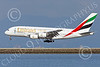 A380 00284 An Airbus A380 Emirates Airline A6-EEU on final approach to land at SFO 12-2014 12-2014 airliner picture by Peter J Mancus