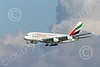 A380 00276 An Airbus A380 Emirates Airline A6-EEU on final approach to land at SFO 12-2014 12-2014 airliner picture by Peter J Mancus